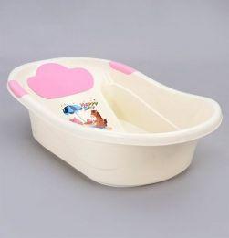 Baby Bath Tub Animal Print - Pink White in bangalore