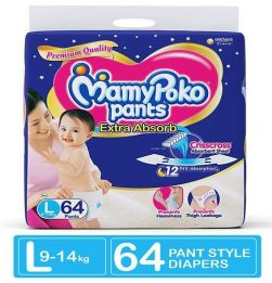 MamyPoko Extra Absorb Pant Style Diapers Large - 64 Pieces in bangalore