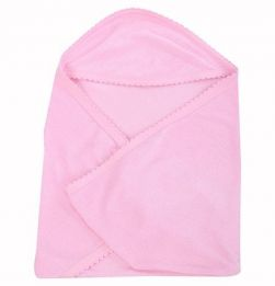 Tinycare Plain Hooded Towel - Pink in bangalore