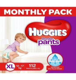 Huggies Wonder Pants Diaper Extra Large Size - 112 Pieces in bangalore