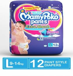 MamyPoko Extra Absorb Pant Style Diapers Large - 12 Pieces in bangalore
