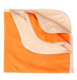 Tinycare Solid Colour Bath Towel - Orange in bangalore
