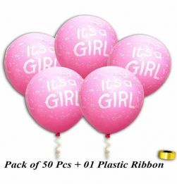 Printed Pink Balloons - Pack of 50 in bangalore