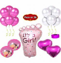 Baby Girl Balloon Combo Kit Pink in bangalore