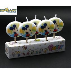 Mickey Mouse Candles - Pack Of 5 in bangalore