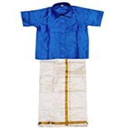Boys Traditional Dhoti & Shirt SET-Blue in bangalore